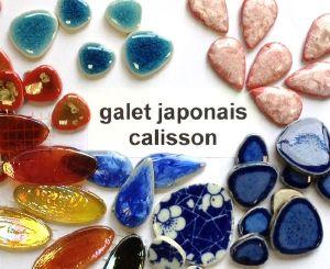 Mosaïque galets japonais et calisson en verre- vente en ligne au ...