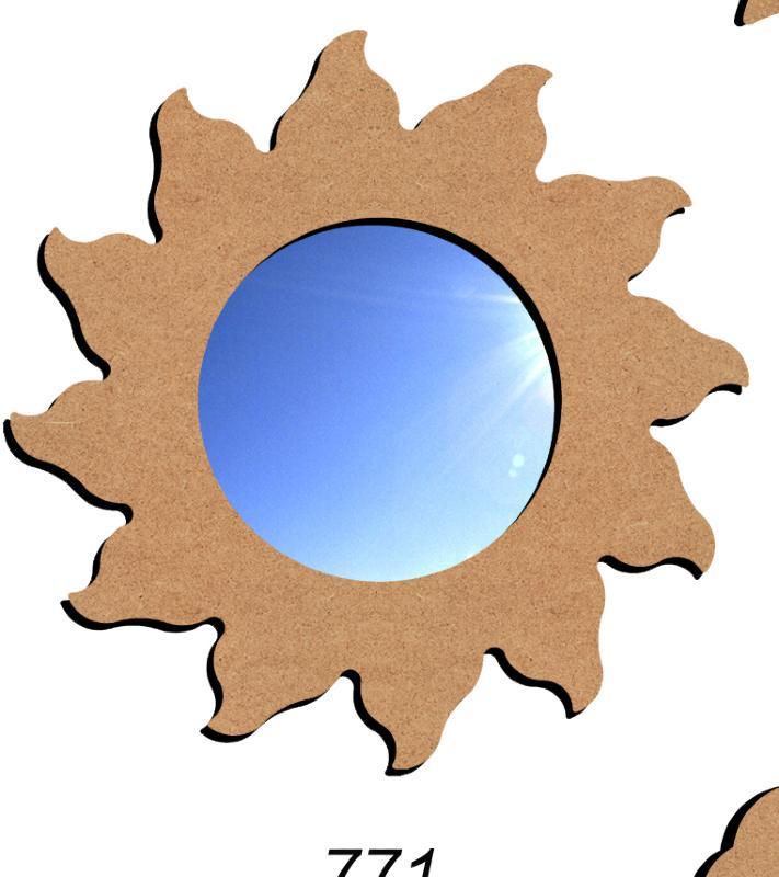 Miroir soleil fourniture mosaique miroir soleil pour for Miroir soleil en bois