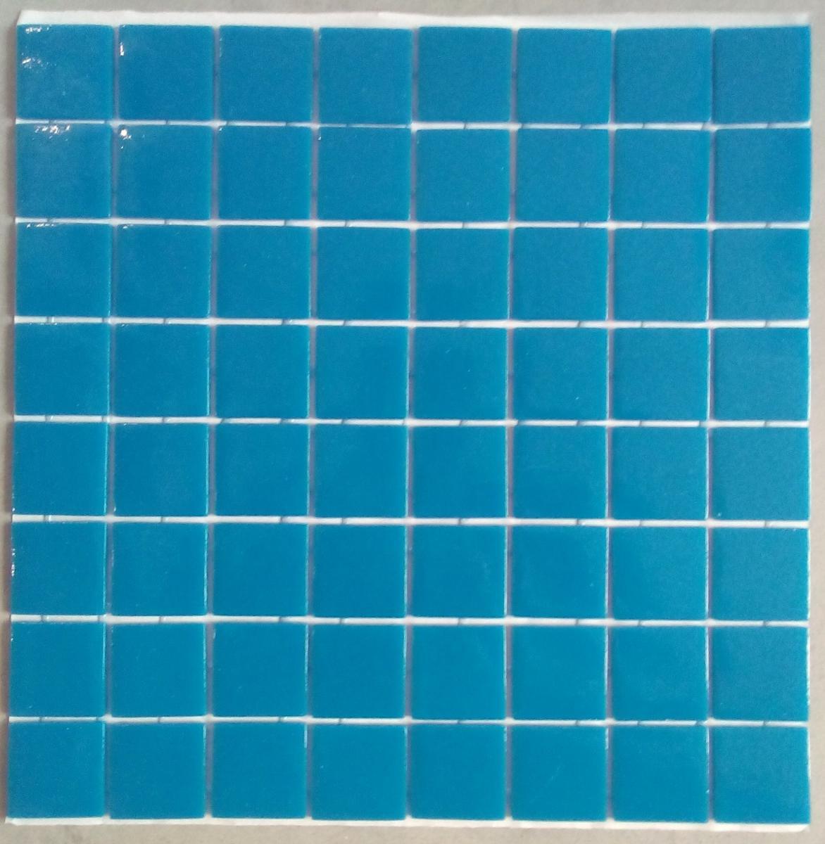 Mosa que carrelage bleu de prusse 4 cm par plaque - Plaque de mosaique salle de bain ...