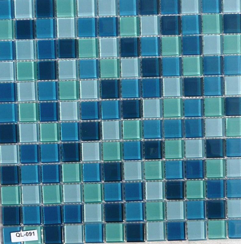 Mosa que maux de verre turquoise plaque de 30 cm achat - Plaque de mosaique salle de bain ...