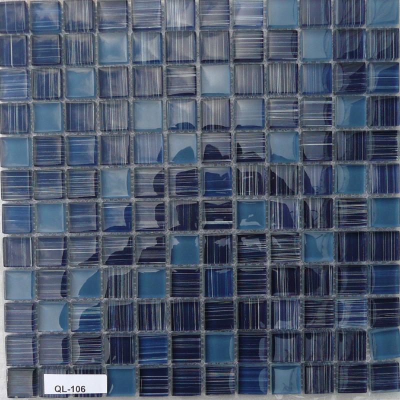 mosa que p te de verre couleur bleu violet m lange plaque vente de mosa que salle de bain. Black Bedroom Furniture Sets. Home Design Ideas