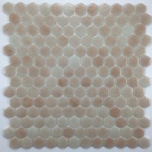 Charmant Beige Rosé Hexagone Mosaïque émaux Brillant Plaque