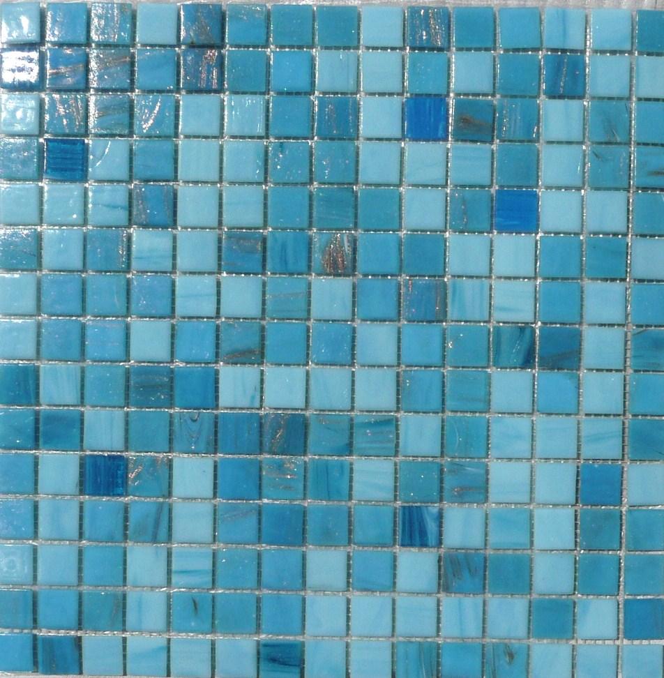 Mosaique Salle De Bain Bleu ~ mosa que p te de verre artisanale avec gemme bleu clair plaquette