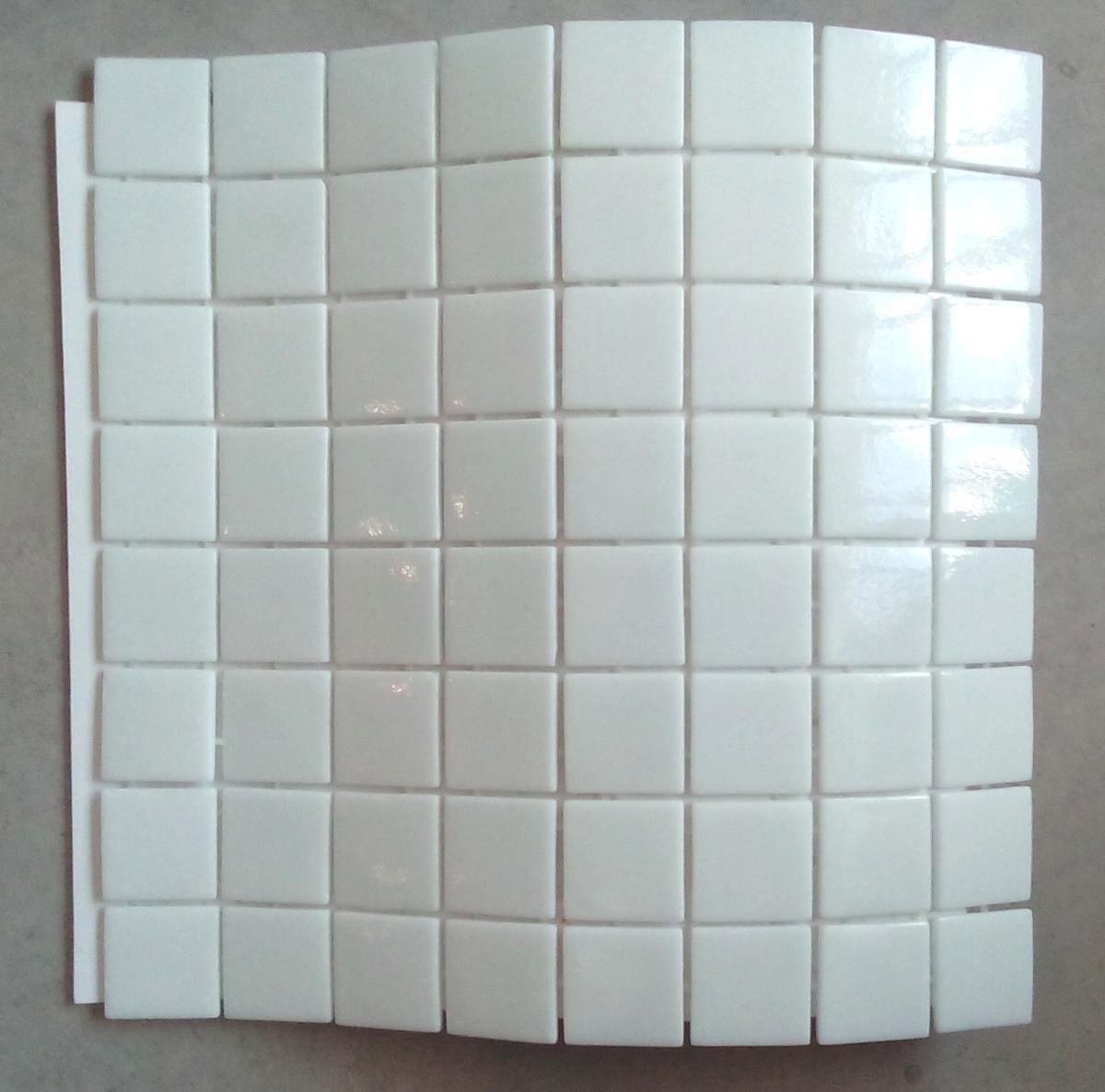 Mosaïque carrelage , blanc uni 4 cm par plaque   achat mosaïque ...