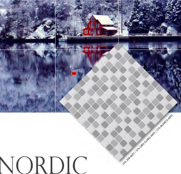 Mosa que maux de verre nordic mat mix gris blanc carton for Carreaux de briare