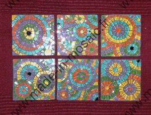 Tableau mosaique d 39 emaux modele image en mosaiques cercles de chez made in mosaic - Modele de creation en mosaique ...