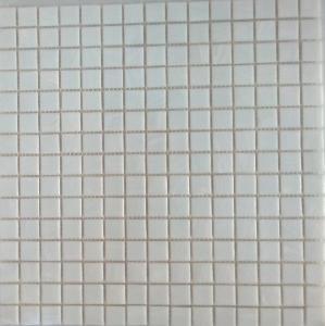 Blanc Mosaïque Pâte De Verre Blanc Marbré Plaque