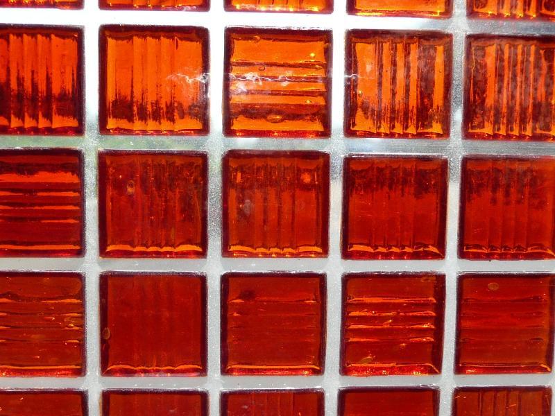 Mosa que p te de verre transparente rouge plaquette - Mosaique de verre autocollante ...