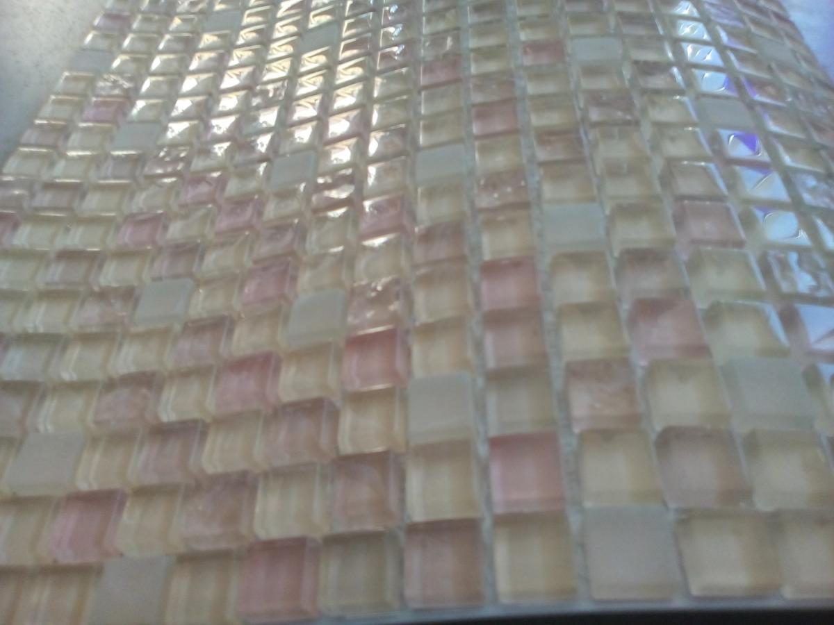 Mosaïque pâte de verre couleur ivoire taupe m²   vente de mosaïque ...