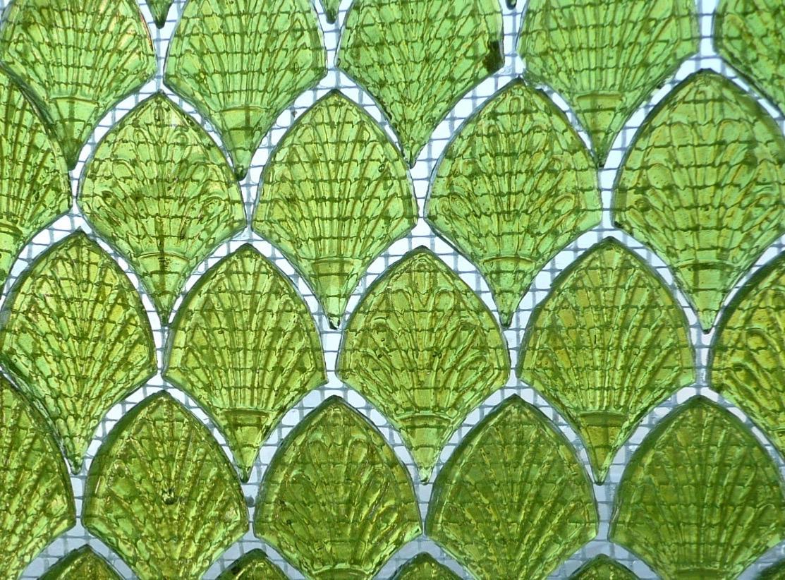 mosa que palmette verre achat de bille plate palmette vert anis nacr pour mosaique. Black Bedroom Furniture Sets. Home Design Ideas