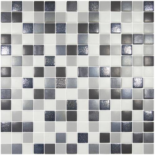 mosa que p te de verre carr loft gris blanc mat mix par 100gr achat de mosa que salle de bain. Black Bedroom Furniture Sets. Home Design Ideas