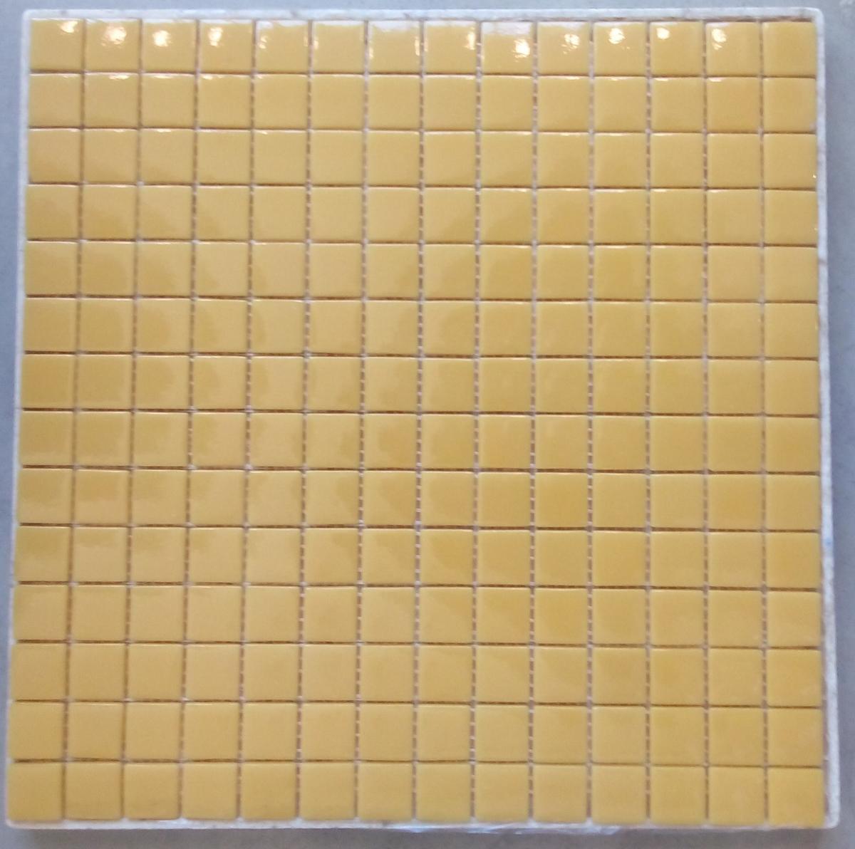 Jaune Safran 101a Mosaïque émaux 2 4 Cm Brillant Pleine Masse Plaque
