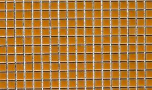 Jaune orange micro mosaïque brillant par 100g
