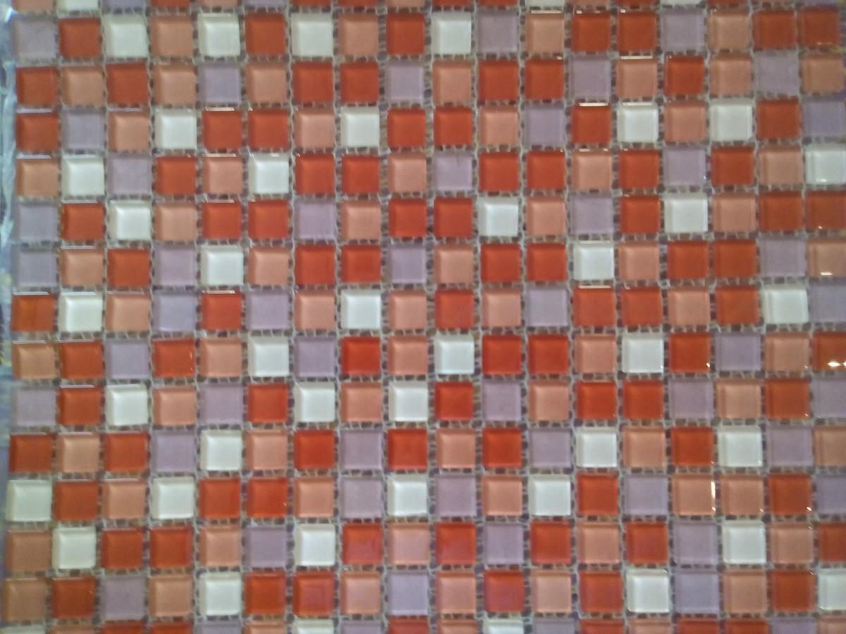 mosa que p te de verre couleur mix rose rouge plaque vente de mosa que salle de bain. Black Bedroom Furniture Sets. Home Design Ideas
