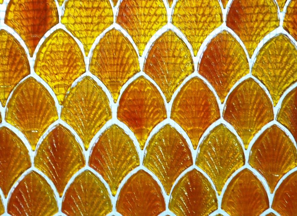 mosa que palmette verre achat de bille plate palmette orange clair nacr pour mosaique. Black Bedroom Furniture Sets. Home Design Ideas