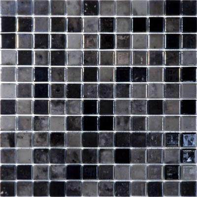 Noir gris mix nacré gloss mosaïque émaux par plaque