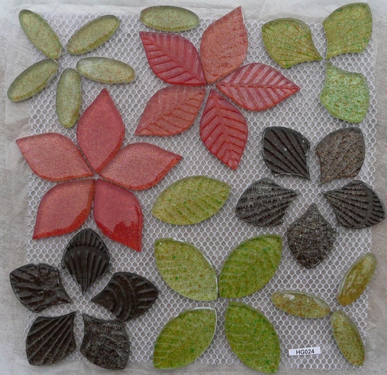 mosa que fleurs verre m lange couleur plaque vente en ligne de galet maill. Black Bedroom Furniture Sets. Home Design Ideas