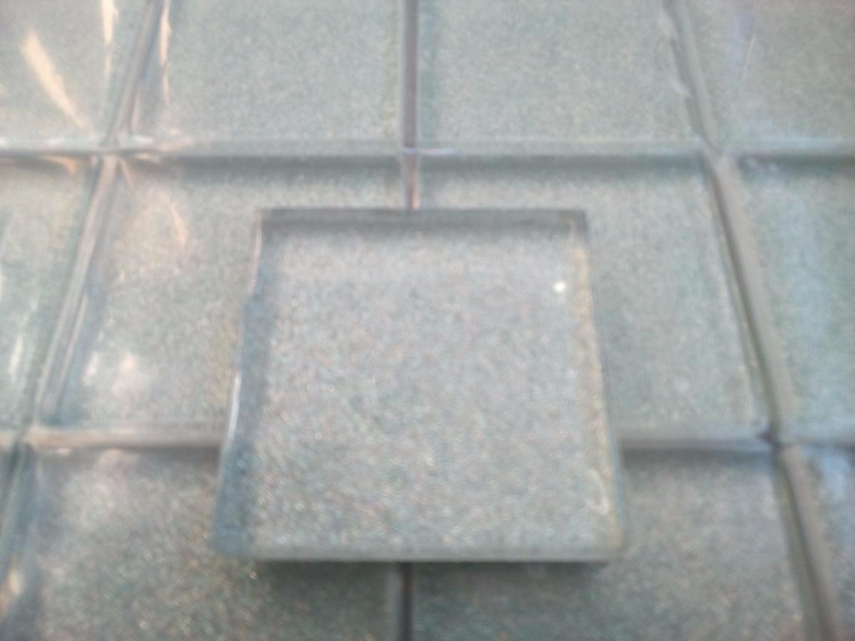 Argent mosaïque gris argent paillette 4.8 cm mosaïque émaux vetrocristal  par plaque
