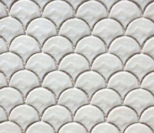 Mosaïque écaille Verre Blanc Pur Par Plaque Achat Mosaïque écaille - Carrelage écaille