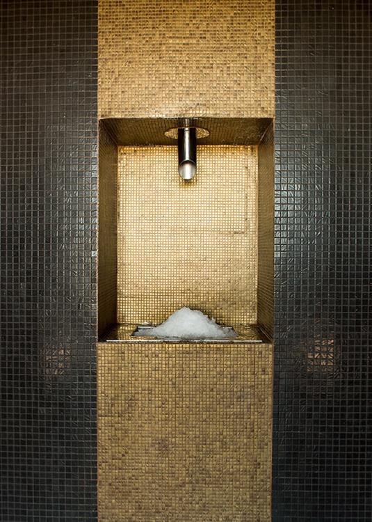 Mosa que maux de verre dor bronze relief par plaque de - Plaque de mosaique salle de bain ...