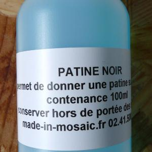 Patine noir 100 ml technique vitraux Tiffany