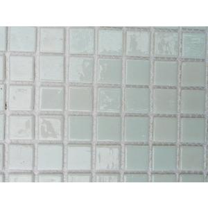 Blanc intense mosaïque Tiffany par 16 carreaux