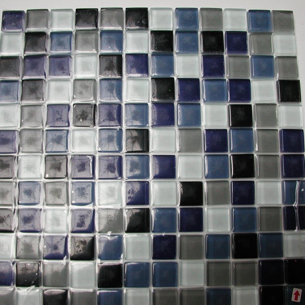 mosa que p te de verre couleur bleu noir gris m vente de mosa que piscine. Black Bedroom Furniture Sets. Home Design Ideas