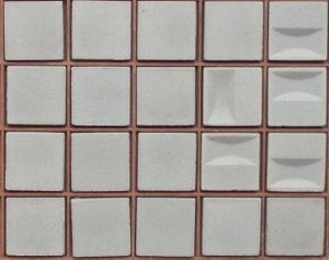 Blanc fri facette 2 par 2cm mosaïque grès antique paray par 100g