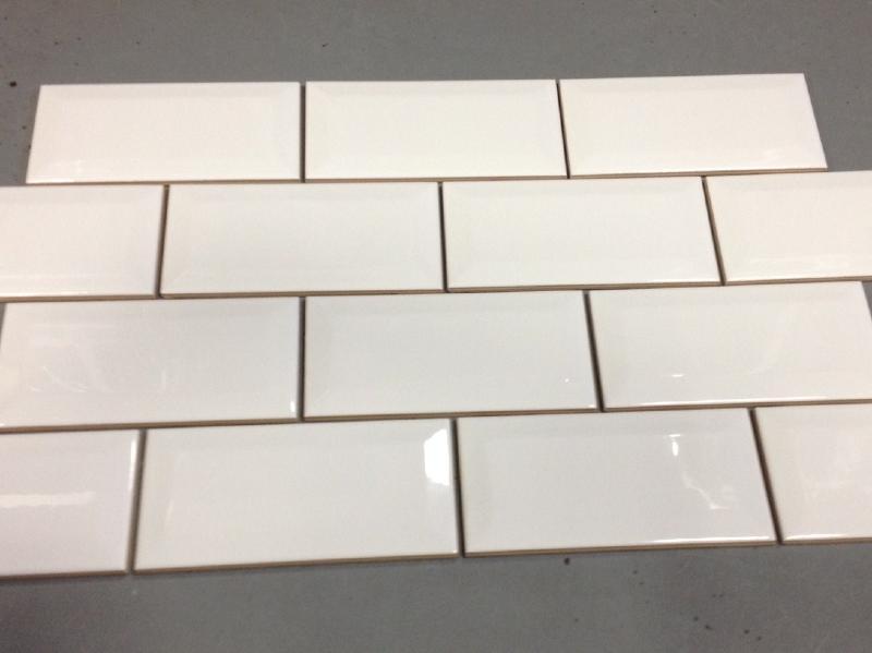 Mosa que carreau m tro blanc brillant 75 par 150 mm achat de carrelage m tro pour mur for Carreau metro