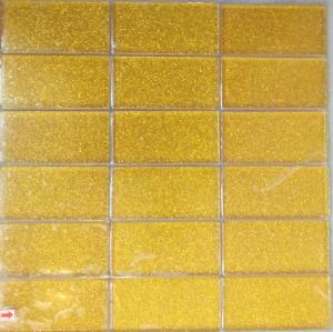 Jaune mosaïque doré paillette soutenu rectangle 48 par 98 mm par plaque 30 cm