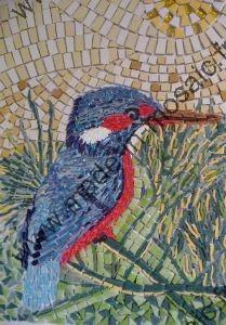 Tableau martin pecheur mosaique modele image en mosaiques animaux de chez made in mosaic - Modele de creation en mosaique ...
