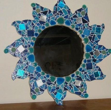 Miroir soleil fourniture mosaique miroir soleil pour for Piscine bord miroir