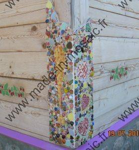 Decouvrez des cr ations modeles mosaiques de made in for Decorer un mur exterieur