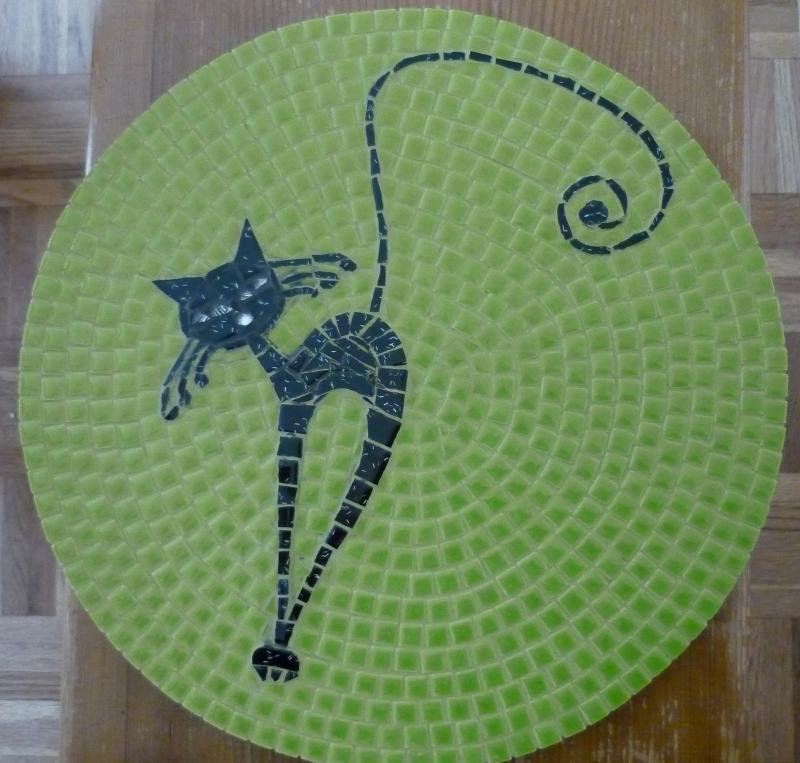Image animaux mosaique - modele image en mosaiques chat mme thouvenel de chez made in mosaic