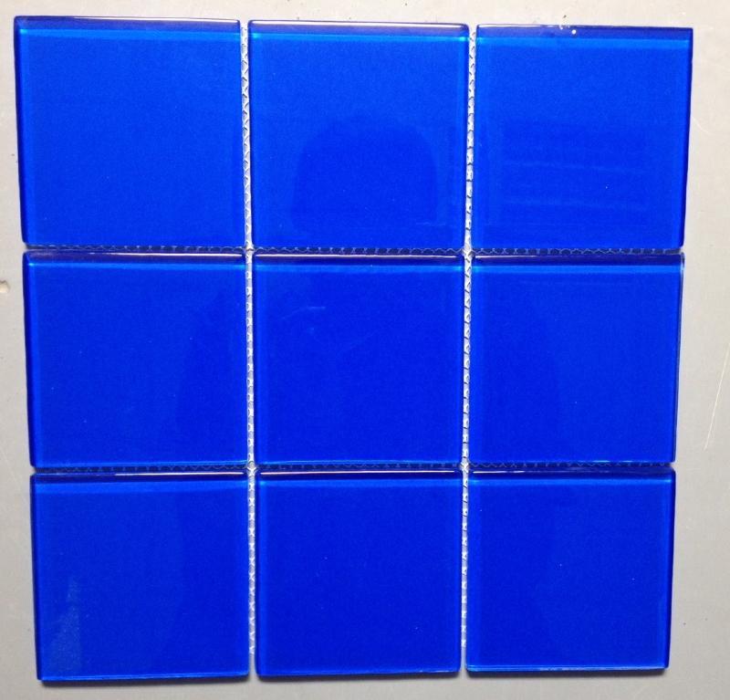 carreau emaux de verre transluscide couleur bleu 9 8 cm. Black Bedroom Furniture Sets. Home Design Ideas
