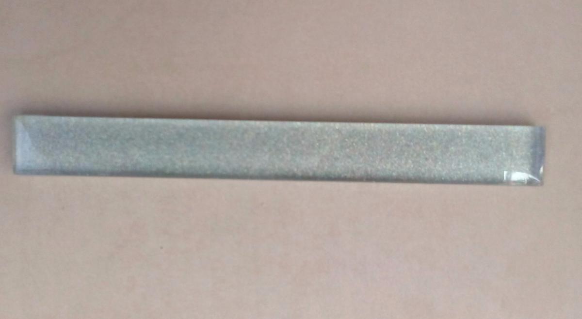 Mosa que carrelage et frise argent listel barrette paillette soutenu 20 cm - Mosaique pour salle de bain pas cher ...