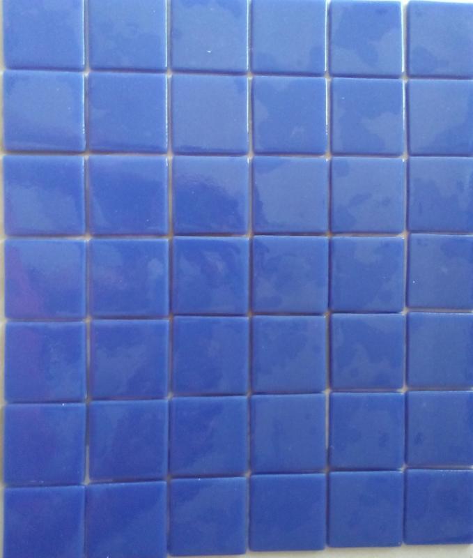 Bleu Lazuli 4 cm mosaïque émaux par plaque