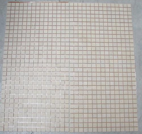 Grès 2 par 2 cm mosaïque grès antique paray par 10 M²  jaune5 beige travertin