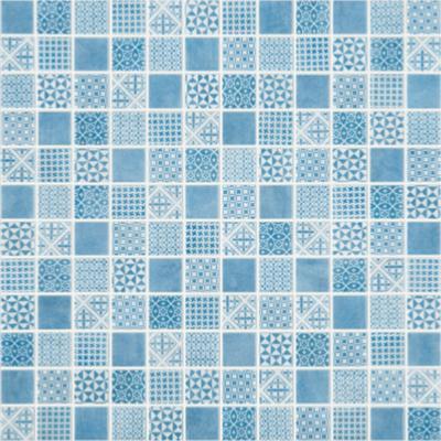 Mosa que carreau ciment tons bleu gris par plaque de 30 cm for Achat carreaux de ciment