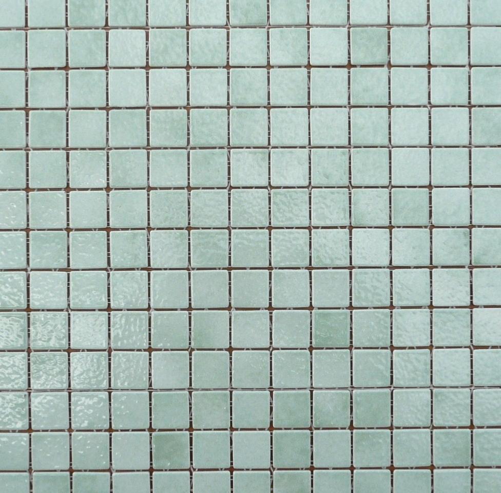 Faience Vert D Eau vert d'eau clair / lotus mosaïque émaux de briare par 100g