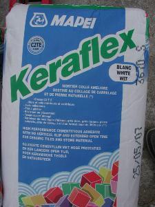 Ciment colle keraflex blanc par 5 kilos pour coller for Ciment colle special exterieur