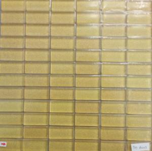 Jaune mosaïque doré paillette fine rectangle 23 mm par 48 mm par lot de 10 M²