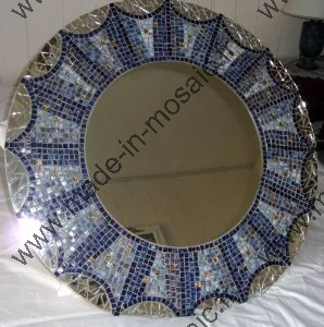 Made in mosaic propose une vari t de miroirs mosaique for Miroir mosaique rond