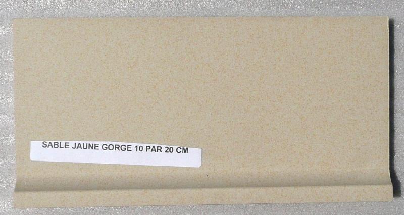 Carrelage plinthe gorge jaune sable mat achat de - Plinthe a gorge ...