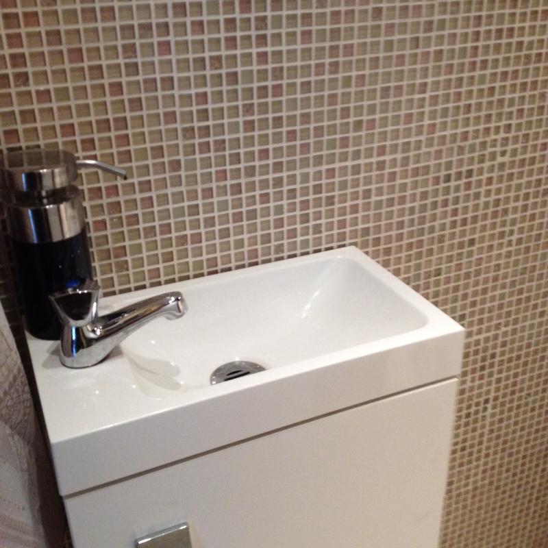 Mosa que p te de verre couleur ivoire rose plaque vente - Plaque de mosaique salle de bain ...