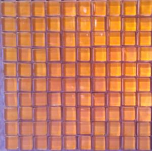 Orange agrume mosaïque BRILLANT CRISTAL 10 mm par plaque