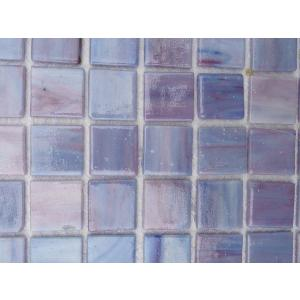 Rose violet mosaique Tiffany par 16 carreaux
