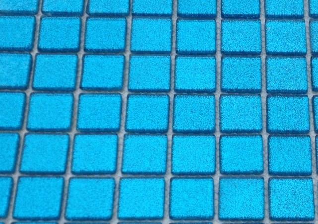 Mosaïque pâte de verre translucide couleur paillette bleu 2.5 cm ...
