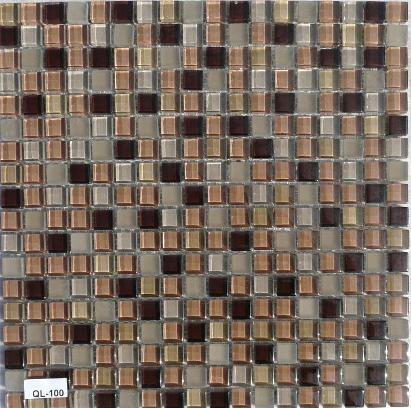 mosa que p te de verre couleur brun clair et fonc format 1 5 cm vente d 39 maux de verre. Black Bedroom Furniture Sets. Home Design Ideas