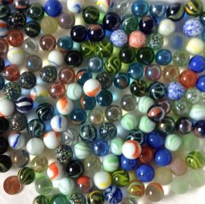 Mix billes de verre diamètre 16 mm par 200 g